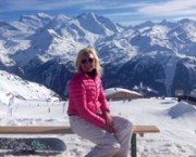 Eva skiing in Verbier