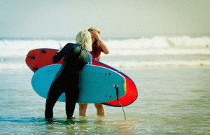 Surfing in Bidart with LadiesCamps