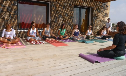 Yoga on surf camps